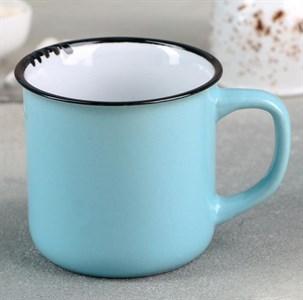 Кружка керамическая голубая 330 мл
