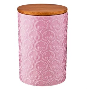 Банка для хранения 750 мл розовая