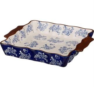 """Блюдо для запекания """"Синие цветы"""" 29х25 см"""
