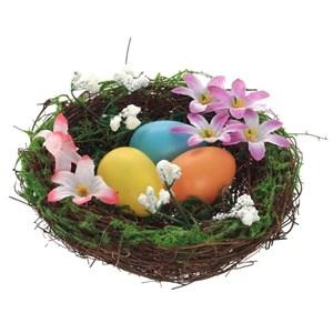 Гнездо с пасхальными яицами 15 см