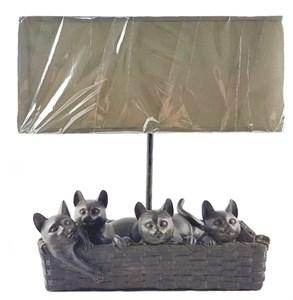 """Лампа настольная """"Кошки в корзине"""""""
