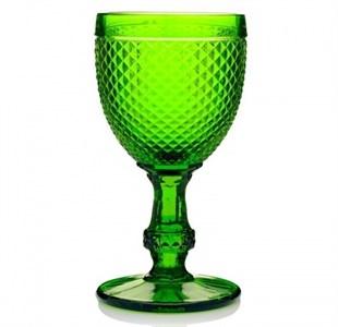"""Бокал """"Винтаж"""" зеленый 250 мл из цветного стекла"""