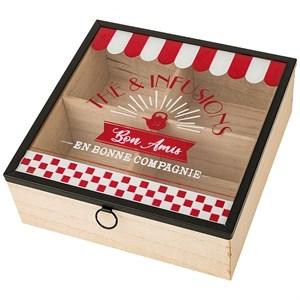 """Шкатулка для чайных пакетиков """"Французская кухня"""""""
