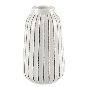 Ваза керамическая рифленая белая