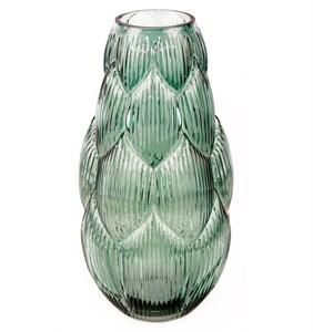 Ваза стеклянная зеленая 36 см
