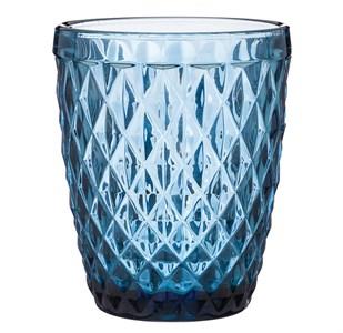 """Стакан """"Ромб"""" 270 синий из цветного стекла"""