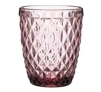 """Стакан """"Ромб"""" 270 розовый из цветного стекла"""