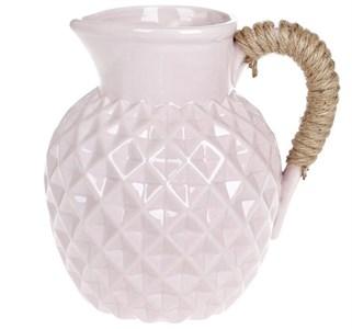 Кувшин керамический 1600 мл розовый