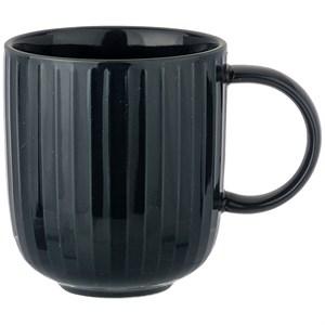 Кружка рифленая черная 390 мл