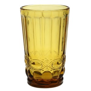 """Стакан """"Франция"""" желтый 350 мл из цветного стекла"""