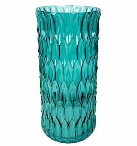 Ваза стеклянная синяя 30 см