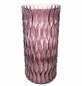 Ваза стеклянная розовая 30 см