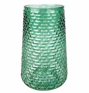 Ваза стеклянная зеленая 26 см