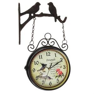 """Часы настенные двухсторонние """"Птицы"""", циферблат 17 см"""