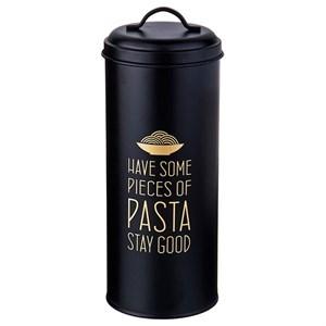 """Банка для хранения """"Спагетти"""" металлическая черная"""