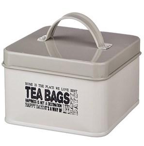 Шкатулка для чайных пакетиков металлическая