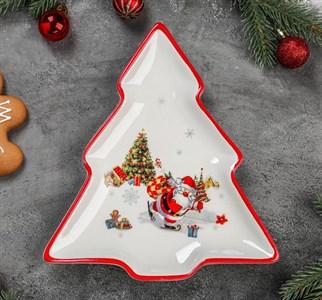 """Блюдо сервировочное """"Дед Мороз с подарками"""""""