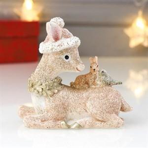 """Статуэтка """"Олень с зайцем и птицей"""""""