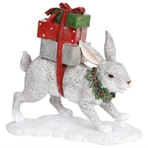 """Статуэтка """"Заяц с подарками"""""""