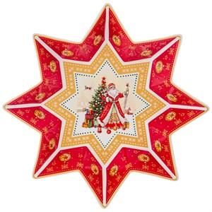 """Салатник """"Новогодняя звезда"""" в подарочной упаковке (большой)"""
