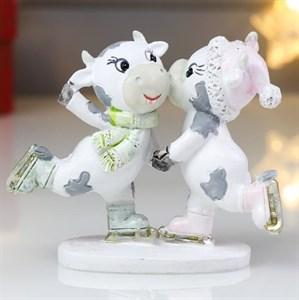 """Статуэтка """"Символ 2021. Бычок и коровка"""""""