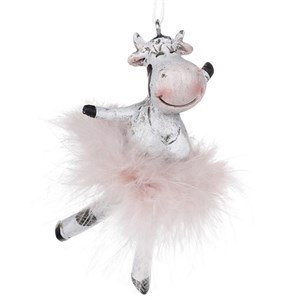 "Елочная игрушка ""Корова-балерина"""
