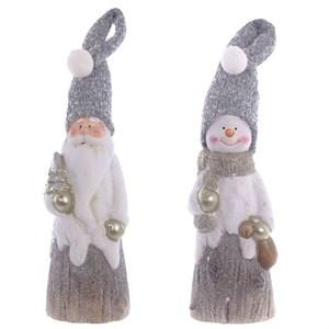 """Статуэтка """"Дед Мороз/Снеговик"""" 25 см, цена за штуку"""