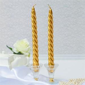 Набор из двух свечей золотистых