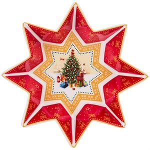 """Салатник """"Новогодняя звезда"""" в подарочной упаковке (маленький)"""