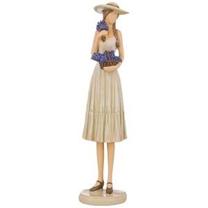 """Статуэтка """"Девушка с корзиной лаванды"""""""