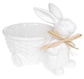 Керамический кролик с тележкой