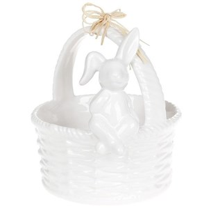 Корзинка керамическая с кроликом