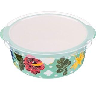 Блюдо для запекания с крышкой с цветами
