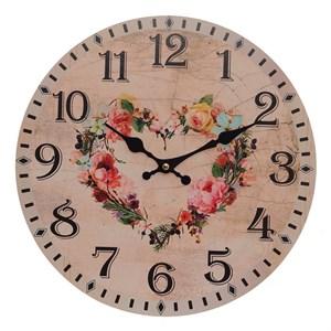 """Часы настенные """"Цветочное сердце"""""""