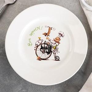 """Тарелка """"Веселый повар"""" 17 см в ассортименте"""