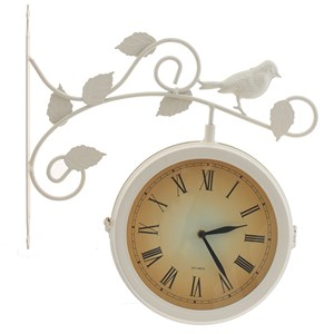 """Часы двусторонние настенные """"Птица на ветке"""" диаметр 20 см"""