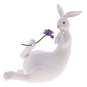 """Статуэтка """"Кролик с цветком"""""""
