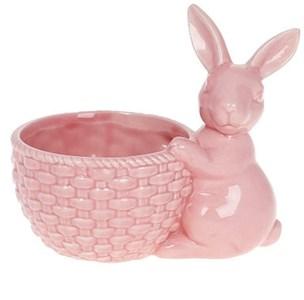 Кролик с корзинкой розовый