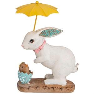 """Статуэтка """"Пасхальный кролик с зонтом"""""""