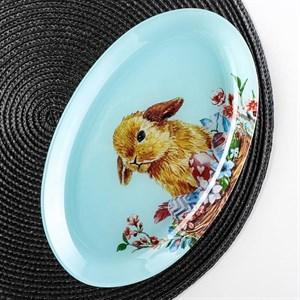 """Блюдо стеклянное """"Кролик"""" 24х15 см"""
