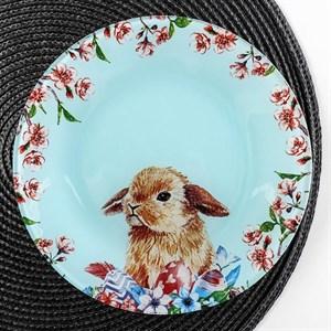 """Тарелка стеклянная """"Кролик"""" 20 см"""