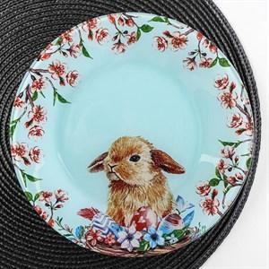 """Тарелка стеклянная """"Кролик"""" 23 см"""