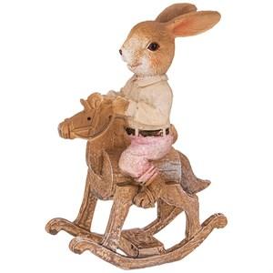 "Статуэтка ""Кролик на лошадке"""