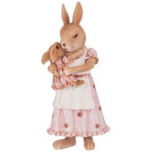 """Статуэтка """"Крольчиха с крольчонком"""""""