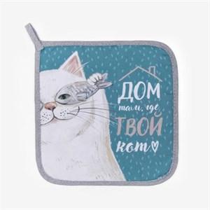 "Прихватка ""Дом с котом"""