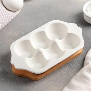 Подставка для яиц на деревянной основе