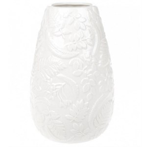 """Ваза """"Цветочный узор"""" 22 см молочная"""