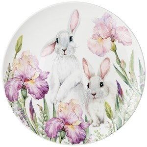 "Тарелка ""Кролики в ирисах"" 27 см"
