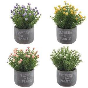 Цветы искусственные в сером кашпо, цена за штуку