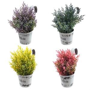 Цветы искусственные в подвесном кашпо, цена за штуку